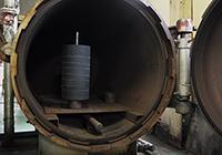 ゴムライニング加硫蒸し作業